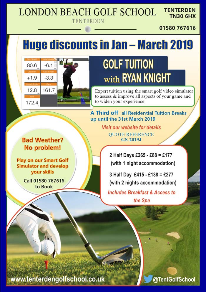 Winter golf tuition offers