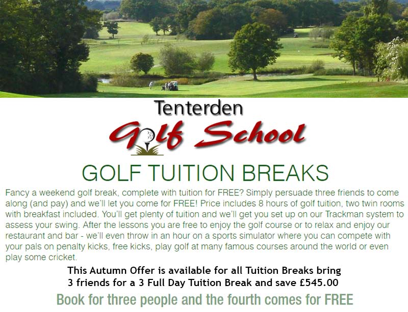 Special golf offer